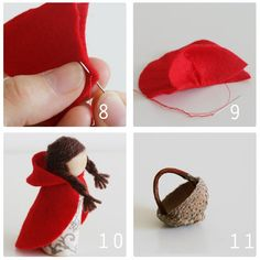 felt peg doll cloak with hood pattern - Google Search