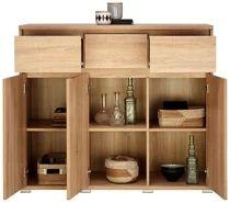 Kommode mit 3 Schubladen in Eichefarben bestellen Sideboard, Bathroom Medicine Cabinet, Wine Rack, Shelving, Storage, Furniture, Home Decor, Modern, Products