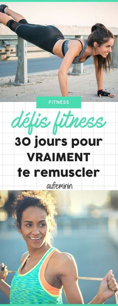 Fitness: En anglais, on les appelle les challenges. Fitness Herausforderungen, Fitness Workouts, Mens Fitness, Fun Workouts, At Home Workouts, Health Fitness, Corps Fitness, 30 Day Workout Challenge, 30 Day Challenge
