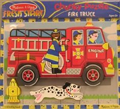Fire Truck Chunky Puzzle | | NestLearning.com
