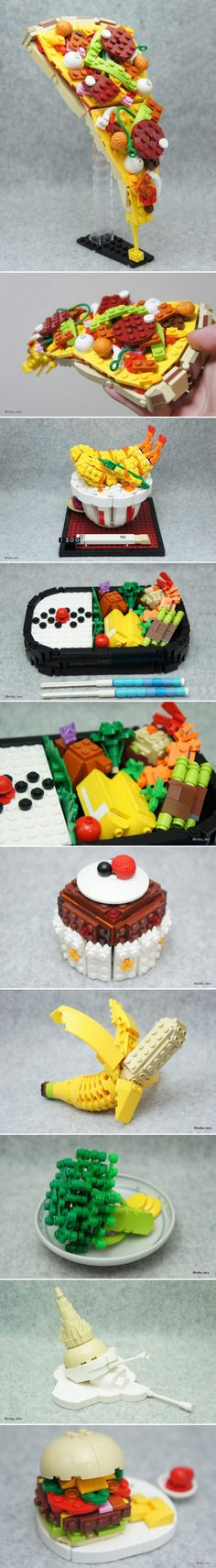 More Lego food art by Japanese artist Tary