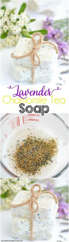DIY Bar Soap: Lavender Chamomile Tea Soap DIY Homemade Cool Mothers Day Ideas by DIY Ready at http:diy-gifts-mothers-day-ideas Diy Lipbalm, Diy Masque, Homemade Mothers Day Gifts, Homemade Soap Recipes, Homemade Facials, Homemade Crafts, Chamomile Tea, Mother's Day Diy, Homemade Beauty Products