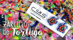 Zarcillos de #Tortuga en acrílico azul pintados a mano con colores fluorescentes  #ClaudiaCassani  Pedidos vía web & whatsapp [ver perfil]