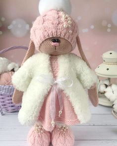Crochet Doll Pattern, Crochet Toys Patterns, Stuffed Toys Patterns, Crochet Dolls, Crochet Animal Amigurumi, Amigurumi Doll, Crochet Animals, Crochet Rabbit, Cute Crochet