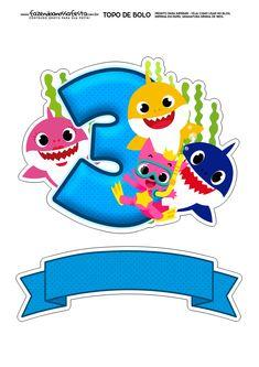 Topo de bolo Baby Shark numero 2 – Fazendo a Nossa Festa Shark Birthday Cakes, Baby Boy 1st Birthday, Boy Birthday Parties, Baby Hai, 2 Baby, Shark Party Decorations, Baby Shark Doo Doo, Shark Cake, Baby Party