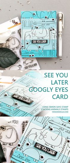 Simon Says Stamp | See You Later Googly Eyes Critter Card using Stacking Animals Stamp Set