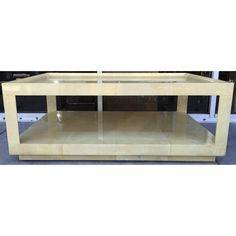 Image of Holly Hunt Vintage Goatskin Coffee Table