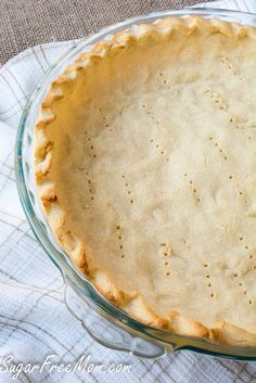 Low Carb, Nut Free Coconut Flour pie crust- grain free-sugarfreemom.com