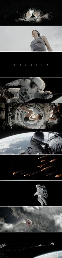 Best 3D cinema experience ever. Gravity (2013) Direct. by Alfonso Cuarón; Cinematography by Emmanuel Lubezki.