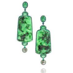 chinese style emerald jade earring #diamonds #jewellerysketch #bycouture #austylee #diamondlover #emerald #oneofakindjewelry…