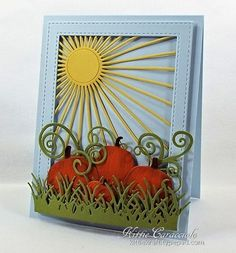 I couldn't resist making one more card this fall season using the new Pumpkin Set and pairing it with the new Sunburst  Background, Flourish, All-in-One Frames Rectangles 2 - See more at: http://www.kittiekraft.com/2015/Impression-obsession-give-thanks-challenge. Pumpkin Set 2 right