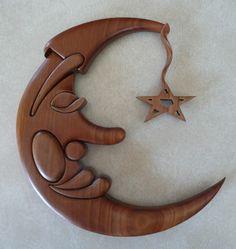 Intarsia Moon