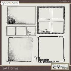 Digital Scrapbook Text Frames at Gotta Pixel. www.gottapixel.net/
