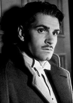 """Laurence Olivier as Maxim de Winter in """"Rebecca"""" (directed by Alfred Hitchcock, Hooray For Hollywood, Golden Age Of Hollywood, Hollywood Stars, Classic Hollywood, Old Hollywood Actors, Alfred Hitchcock, Classic Movie Stars, Classic Movies, Old Movie Stars"""