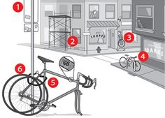 Best Ways to Lock Your Bike: Some foolproof advice on reducing the odds of theft—or at least increasing your chances of getting your stolen bike back Cycling Tips, Road Cycling, Mobiles, Bicycling Magazine, Velo Cargo, Commuter Bike, Bike Rider, Road Bikes, Mountain Biking