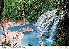 "Ocho Rios, Jamaica. Waterfall at ""The Ruins"""