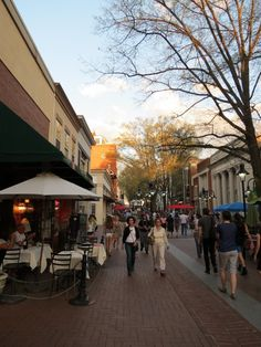 Just enjoying the Downtown Mall on a spring evening.  Photo by Carol Greene