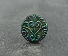 Garden Gate Pendant, handcrafted garden gate bead
