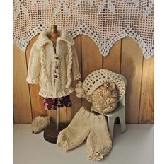 Doll coat doll clothing set knitted clothes for dolls boho