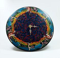 """""""Billabong"""" polymer clay clock by Wendy Jorre de St Jorre"""