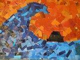 Artsonia Art Exhibit :: Great Wave Collage