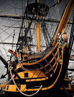 Nelson's Flagship HMS Victory built in 1759 now at Portsmouth, UK