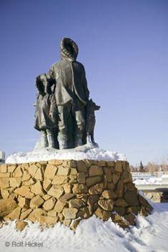 Fairbanks Monument in Alaska,USA.
