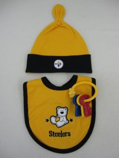 Steelers Baby Three Piece Playwear Gift Set Pittsburgh Steelers Merchandise, Lunch Box, Baby, Gifts, Presents, Bento Box, Baby Humor, Favors, Infant