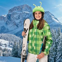 Little alien on the ski slopes :) Now available for kids, if you need for an adult drop us a message! Snowboarding, Skiing, Helmet Covers, Sports Helmet, Ski Slopes, Roller Derby, Rafting, Rain Jacket, Windbreaker