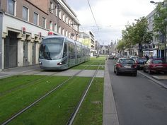 Tramway in Valenciennes Rail Transport, Public Transport, Valenciennes France, Green Corridor, Eco City, Light Rail, Holiday Pictures, Environmental Design, Landscaping