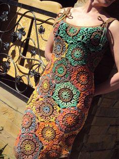 New Crochet Dress Wedding Vestidos Ideas Irish Crochet, Crochet Shawl, Crochet Lace, Crochet Flowers, Crochet Skirts, Crochet Clothes, Diy Dress, Dress Skirt, Dress Pants