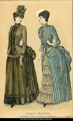Day dresses, 1888, Godey's Fashions