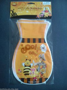Disney 20 Count Cello Shaped Treat Bags With Winnie The Pooh Design Halloween