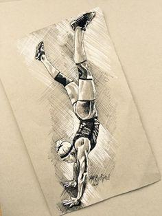 "Daily Paintworks - ""Sara Sigmunds - Crossfit"" - Original Fine Art for Sale - © Piya Samant"