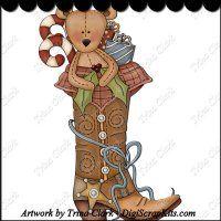 Teddy Bootkin 1 Clip Art