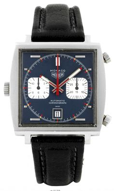 The Tag Heuer Monaco worn by Steve McQueen during the filming of Le Mans in 1971