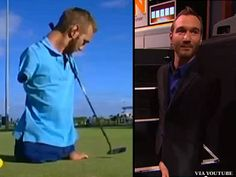 Nick Vujicic surfs, snorkels, golfs and plays soccer, even though he has no arms and legs  #faith #motivation #inspiration