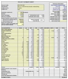 Construction Estimating Software  Free Cost Estimate Spreadsheet