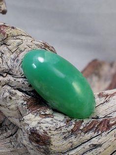 Australian Chrysoprase Ring Stone Cabochon by txrockhound on Etsy, $14.00