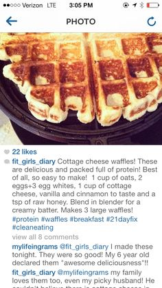 Cottage Cheese Protein Waffles - @Lisa Phillips-Barton Phillips-Barton Phillips-Barton Stonitsch