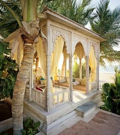 Moroccan style backyard retreat by Naghma. I want one of these!