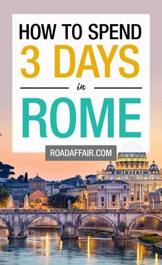 Perfect Rome Itinerary 3 Tage in Rom: Die perfekte Rom-Reiseroute Europe Travel Tips, European Travel, Italy Travel, Travel Destinations, Travel Guides, Rome Travel, Places In Europe, Best Places To Travel, Vacation Places