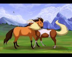 "Spirit and Rain from ""Spirit: Stallion of the Cimarron"" ahhh i loved this movie Spirit Horse Movie, Spirit The Horse, Spirit And Rain, Caballo Spirit, Spirit Drawing, Disney Horses, Horse Movies, Childhood Movies, Spirited Art"