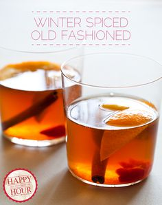 Winter Spiced Old Fashioned