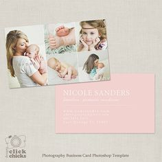 Photography Business Card Photoshop Template by ClickChicksDesigns, $8.00