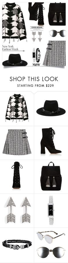 """What to Wear to NYFW"" by tina-abbara ❤ liked on Polyvore featuring STELLA McCARTNEY, Maison Michel, Alexander McQueen, Gianvito Rossi, Loeffler Randall, Gucci, Thomas Sabo and Christian Dior"