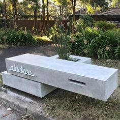 Hungry Wolf Studio Pty Ltd ( Poured Concrete, Concrete Design, Mid Century House, House Numbers, Outdoor Furniture, Outdoor Decor, Facade, Wolf, Yard