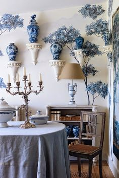 Paolo Moschino ~ his dining room at his Sussex farmhouse