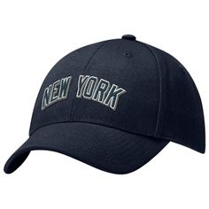 504c6b596f1 Nike New York Yankees Navy Blue Swoosh Flex Hat Yankees Hat