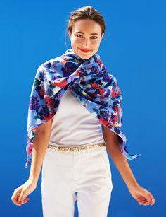Iris cashmere stole - Eric Bompard #iris #flowers
